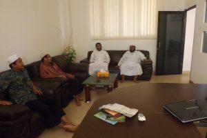 زيارة الشيخ سلطان الحضيف من الرياض